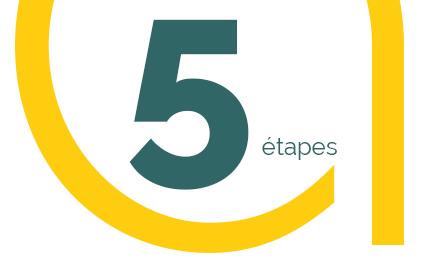 5 étapes